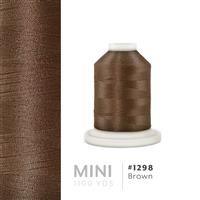 Brown # 1298 Iris Polyester Embroidery Thread - 1100 Yds THUMBNAIL