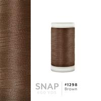 Brown # 1298 Iris Polyester Embroidery Thread - 600 Yd Snap Spool THUMBNAIL