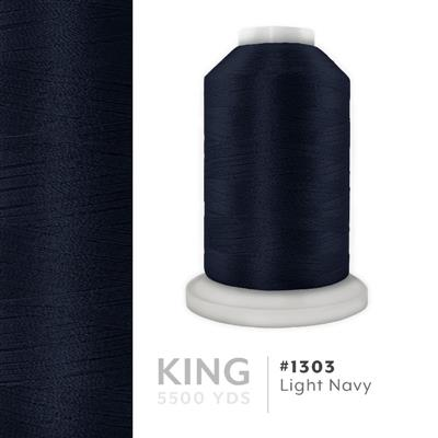 Lt. Navy # 1303 Iris Trilobal Polyester Thread - 5500 Yds MAIN