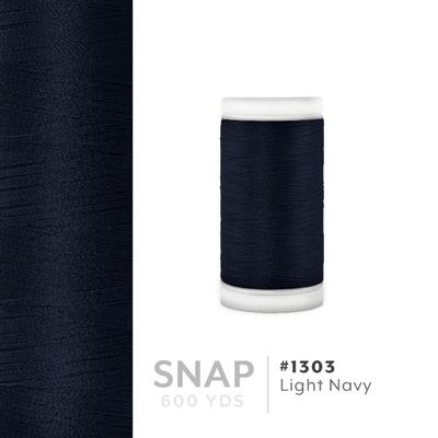 Lt. Navy # 1303 Iris Polyester Embroidery Thread - 600 Yd Snap Spool MAIN