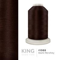 Dark Hershey # 1305 Iris Trilobal Polyester Machine Embroidery & Quilting Thread - 5500 Yds THUMBNAIL