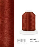 Brick Red # 1308 Iris Polyester Embroidery Thread - 1100 Yds THUMBNAIL
