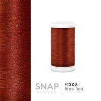 Brick Red # 1308 Iris Polyester Embroidery Thread - 600 Yd Snap Spool THUMBNAIL
