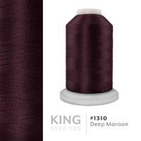 Deep Maroon # 1310 Iris Trilobal Polyester Machine Embroidery & Quilting Thread - 5500 Yds THUMBNAIL