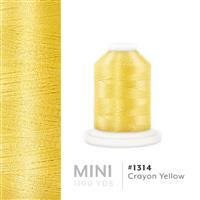 Crayon Yellow # 1314 Iris Polyester Embroidery Thread - 1100 Yds THUMBNAIL