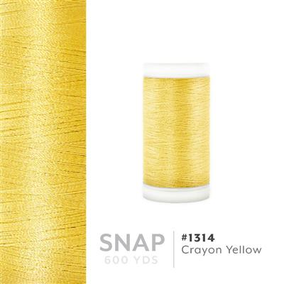 Crayon Yellow # 1314 Iris Polyester Embroidery Thread - 600 Yd Snap Spool MAIN