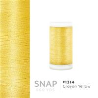 Crayon Yellow # 1314 Iris Polyester Embroidery Thread - 600 Yd Snap Spool THUMBNAIL