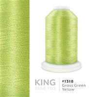 Grass Green Yellow # 1318 Iris Trilobal Polyester Machine Embroidery & Quilting Thread - 5500 Yds THUMBNAIL