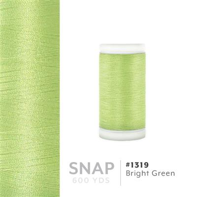 Bright Green # 1319 Iris Polyester Embroidery Thread - 600 Yd Snap Spool MAIN