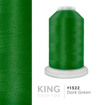 Dark Green # 1322 Iris Trilobal Polyester Thread - 5500 Yds MAIN