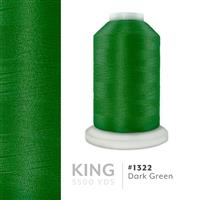 Dark Green # 1322 Iris Trilobal Polyester Machine Embroidery & Quilting Thread - 5500 Yds THUMBNAIL