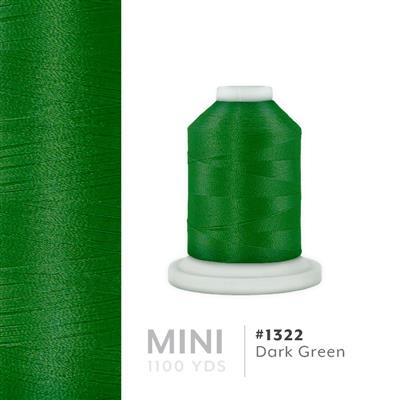 Dark Green # 1322 Iris Polyester Embroidery Thread - 1100 Yds MAIN