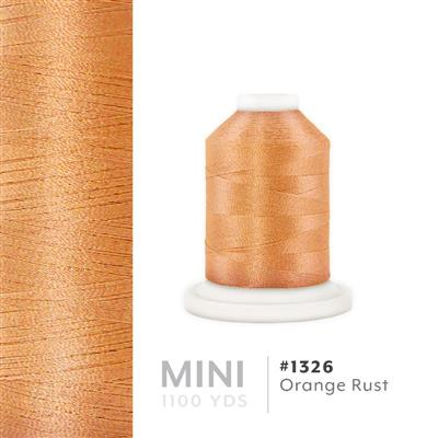 Orange Rust # 1326 Iris Polyester Embroidery Thread - 1100 Yds MAIN