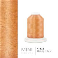 Orange Rust # 1326 Iris Polyester Embroidery Thread - 1100 Yds THUMBNAIL