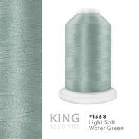 Lt. Salt Water Green # 1338 Iris Trilobal Polyester Machine Embroidery & Quilting Thread - 5500 Yds THUMBNAIL
