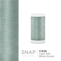 Lt. Salt Water Green # 1338 Iris Polyester Embroidery Thread - 600 Yd Snap Spool THUMBNAIL