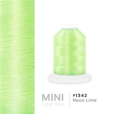 Neon Lime # 1342 Iris Polyester Embroidery Thread - 1100 Yds MAIN