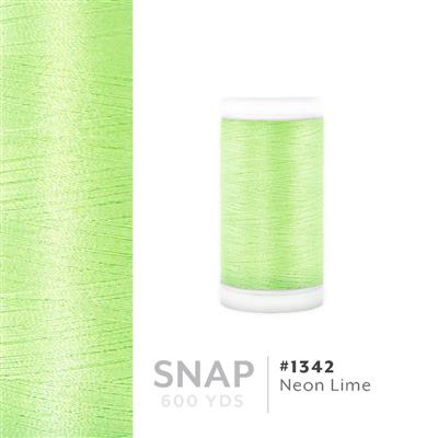 Neon Lime # 1342 Iris Polyester Embroidery Thread - 600 Yd Snap Spool MAIN