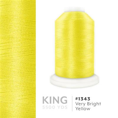 Very Bright Yellow # 1343 Iris Trilobal Polyester Thread - 5500 Yds MAIN