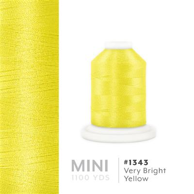 Very Bright Yellow # 1343 Iris Polyester Embroidery Thread - 1100 Yds MAIN