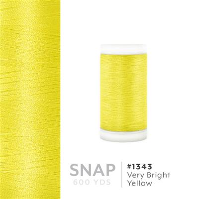 Very Bright Yellow # 1343 Iris Polyester Embroidery Thread - 600 Yd Snap Spool MAIN