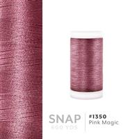 Pink Magic # 1350 Iris Polyester Embroidery Thread - 600 Yd Snap Spool THUMBNAIL