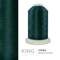 Royal Green # 1354 Iris Trilobal Polyester Machine Embroidery & Quilting Thread - 5500 Yds THUMBNAIL