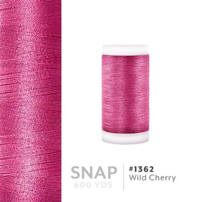 Wild Cherry # 1362 Iris Polyester Embroidery Thread - 600 Yd Snap Spool MAIN