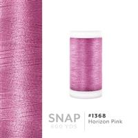 Horizon Pink # 1368 Iris Polyester Embroidery Thread - 600 Yd Snap Spool THUMBNAIL