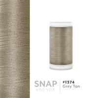 Grey Tan # 1374 Iris Polyester Embroidery Thread - 600 Yd Snap Spool THUMBNAIL