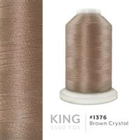 Brown Crystal # 1376 Iris Trilobal Polyester Machine Embroidery & Quilting Thread - 5500 Yds THUMBNAIL