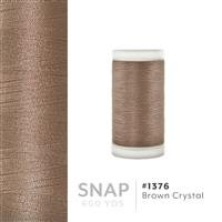 Brown Crystal # 1376 Iris Polyester Embroidery Thread - 600 Yd Snap Spool THUMBNAIL