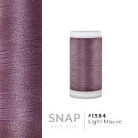 Lt. Mauve # 1384 Iris Polyester Embroidery Thread - 600 Yd Snap Spool THUMBNAIL