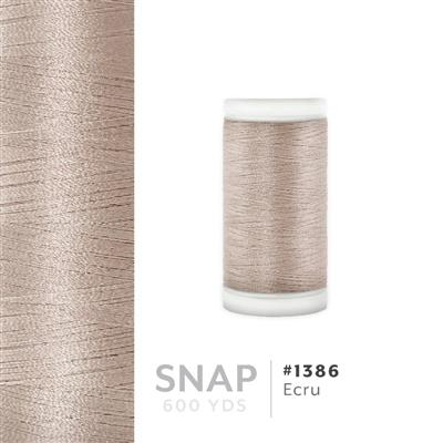 Ecru # 1386 Iris Polyester Embroidery Thread - 600 Yd Snap Spool MAIN