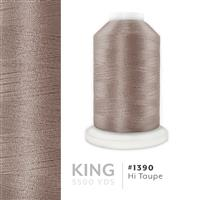 Hi Taupe # 1390 Iris Trilobal Polyester Machine Embroidery & Quilting Thread - 5500 Yds THUMBNAIL