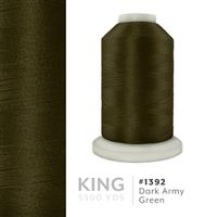 Dark Army Green # 1392 Iris Trilobal Polyester Machine Embroidery & Quilting Thread - 5500 Yds THUMBNAIL