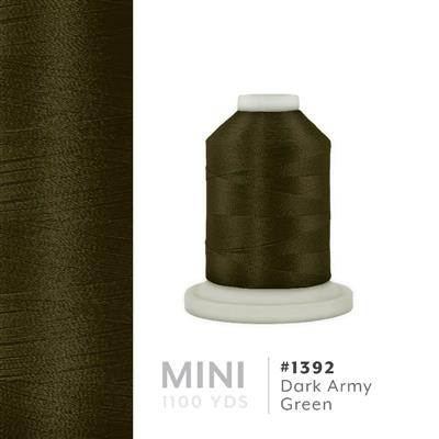 Dark Army Green # 1392 Iris Polyester Embroidery Thread - 1100 Yds MAIN