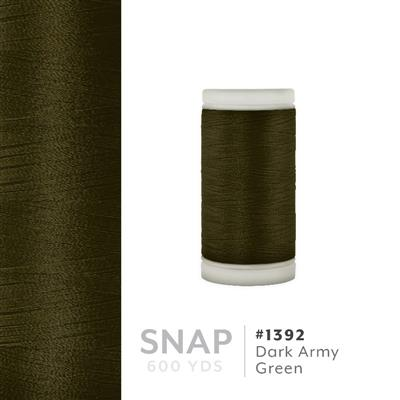Dark Army Green # 1392 Iris Polyester Embroidery Thread - 600 Yd Snap Spool MAIN