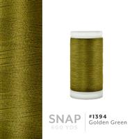 Golden Green # 1394 Iris Polyester Embroidery Thread - 600 Yd Snap Spool THUMBNAIL