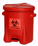 6 Gallon Bio-Hazard Poly Waste Can