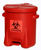 6 Gallon Bio-Hazard Poly Waste Can MAIN