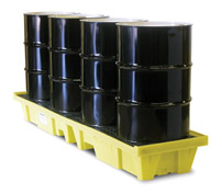 4 Drum In-Line Poly-SpillPallet