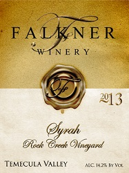 2013 Syrah Rock Creek Vineyard