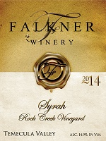 2014 Syrah Rock Creek Vineyard