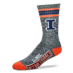 Illinois Fighting Illini - Marbled 4 Stripe Deuce THUMBNAIL