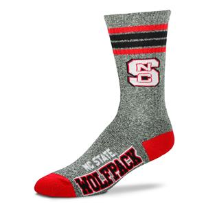 North Carolina State Wolfpack - Marbled 4 Stripe Deuce THUMBNAIL