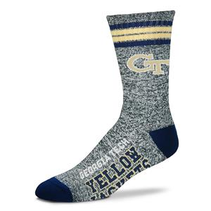 Georgia Tech Yellow Jackets - Marbled 4 Stripe Deuce THUMBNAIL