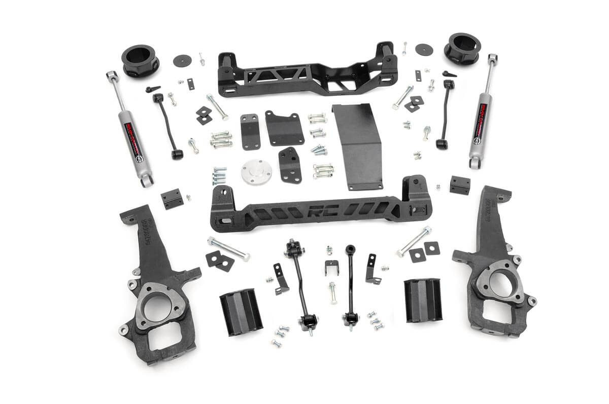 "Fat Bob's Garage, Rough Country Part #328S, Dodge Ram 1500 4"" Suspension Lift Kit 4WD 2009-2015 THUMBNAIL"