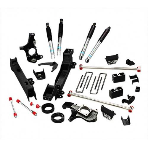 "Chevrolet/GMC Silverado/Sierra 4""-6"" Lift Kit w/Bilstein 5100 Shocks, IFS, Non-dually 8Lug 4WD 07-2000-2010 LARGE"