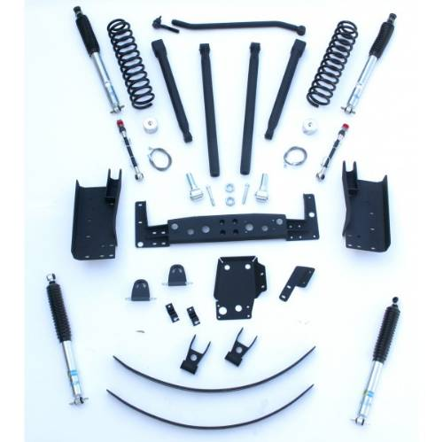 "Jeep Cherokee 4"" Long Arm Lift Kit w/Bilstein 5100 Series Shock Absorbers 4WD/2WD 1984-2001 LARGE"